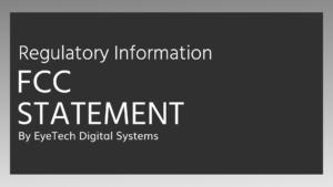 eyetech-fcc-statement